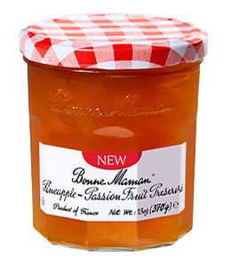 Bonne Maman Pineapple Passion Preserves, 13 Oz (Pack of 6)