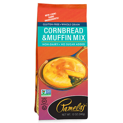 Pamelas Cornbread & Muffin Mix, 12 OZ (Pack of 6)
