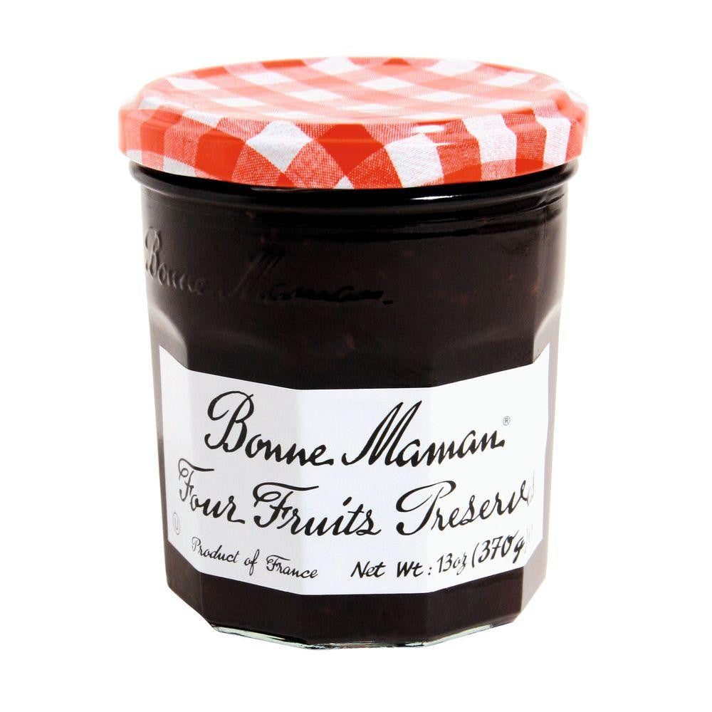Bonne Maman Four Fruits Preserves, 13 Oz (Pack of 6)