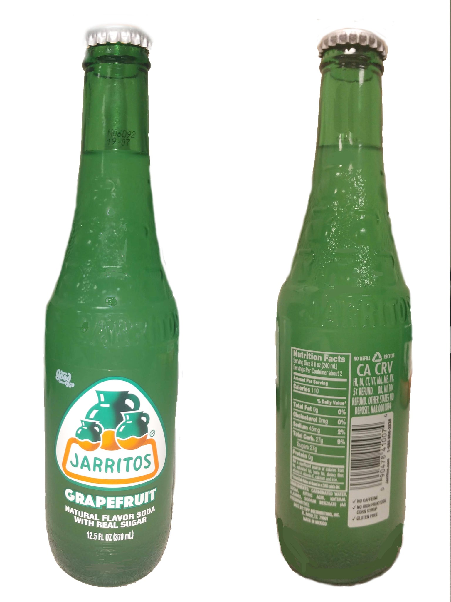 Jarritos Grapefruit Soda, 12.5 Oz (Pack of 24)