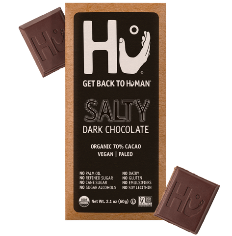 HU Salty Dark Chocolate Bar, 2.10 OZ (Pack of 12)