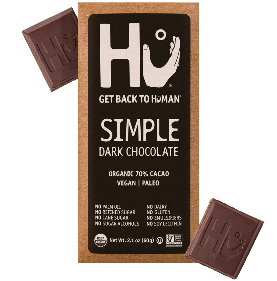 HU Simple Dark Chocolate Bar, 2.10 OZ (Pack of 12)