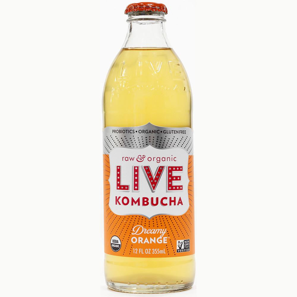 Live Beverage Dreamy Orange Kombucha, 12 Oz (Pack of 8)