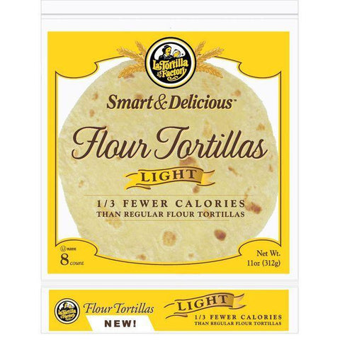 La Tortilla Factory Light Tortillas, Flour, 8 Ea (Pack of 10)