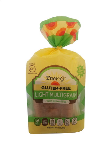 EnerG Light Multigrain Bread with Brown Rice, 8 Oz (Pack of 6)