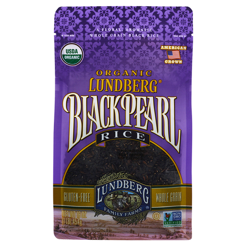 Lundberg Organic Black Pearl Rice 16 Oz (Pack of 6)