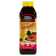 World Harbors Maui Mountain Teriyaki Sauce & Marinade, 16 Oz Squeeze (Pack of 6)