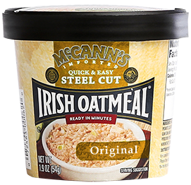 McCann's Quick & Easy Steel Cut Oatmeal Single Serve Cups Original, 1.9 OZ (Pack of 12)