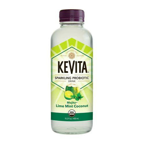 Kevita Mojita Lime Mint Coconut Sparkling Probiotic Drink, 15.2 Oz (Pack of 6)
