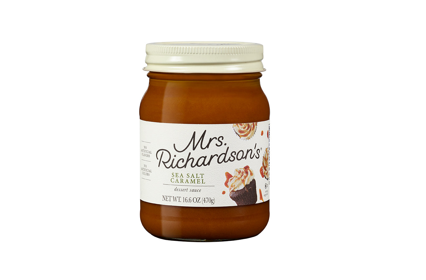 Mrs. Richardson's Sea Salt Caramel Topping, 17.5 OZ (Pack of 6)