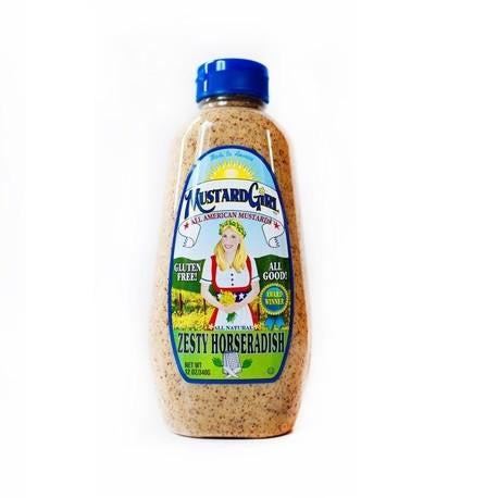Mustard Girl Gluten Free Zesty Horseradish, 12 OZ (Pack of 12)
