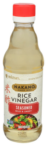 Nakano Mild & Sweet Seasoned Rice Vinegar, 12 OZ (Pack of 6)