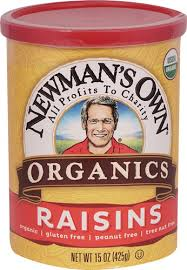 Newmans Own Organics Raisins, 15 OZ (Pack of 12)
