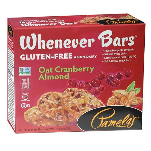 Pamelas Oat Cranberry Almond Whenever Bars, 7.05 Oz (Pack of 6)