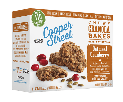 Cooper Street Cranberry Chewy Granola Bakes, 6 OZ (Pack of 6)