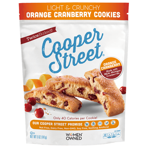 Cooper Street Light & Crunchy Orange Cranberry Cookies, 5 OZ (Pack of 6)