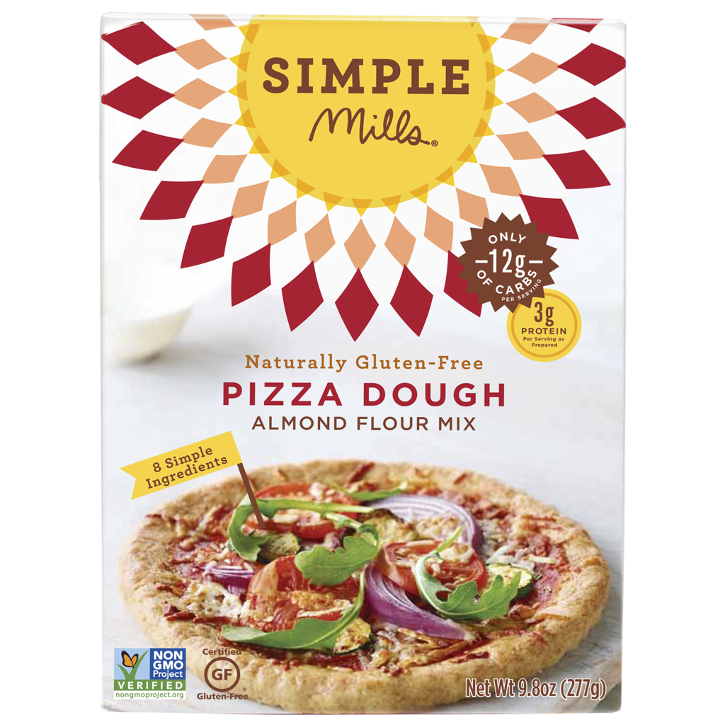 Simple Mills Pizza Dough Mix, 9.80 OZ (Pack of 6)