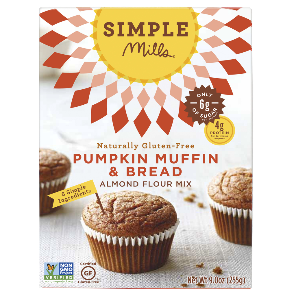 Simple Mills Pumpkin Muffin & Bread Mix, 9.0 OZ (Pack of 6)