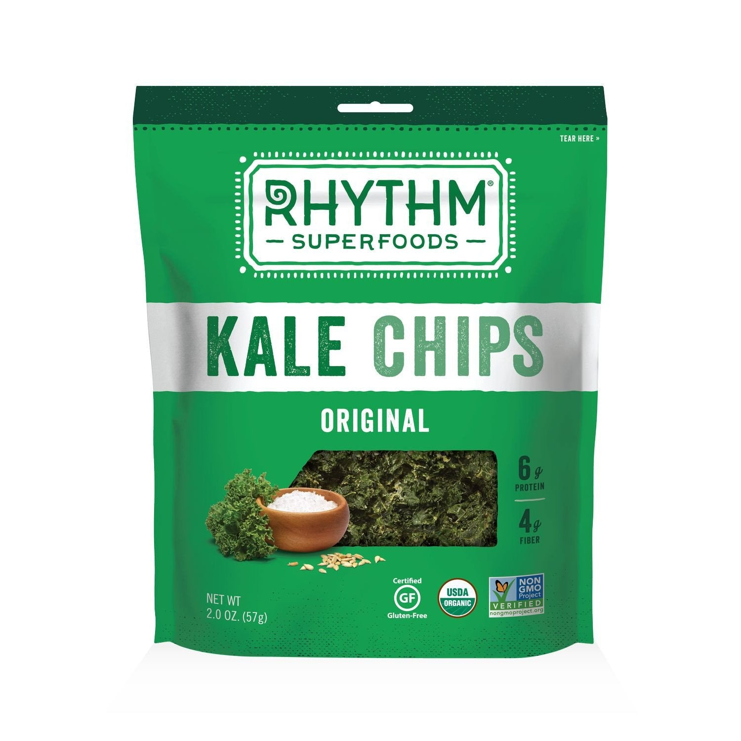Rhythm Superfoods Original Kale Chips, 2 Oz (Pack of 12)