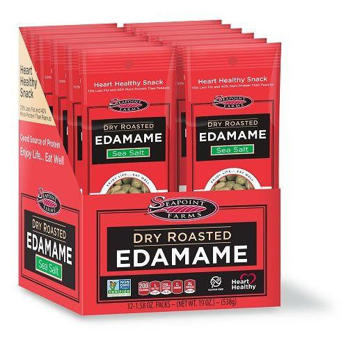 Seapoint Farms Dry Roasted Edamame Sea Salt 12-1.58 oz. Packs (Pack of 12)