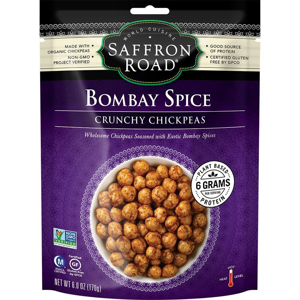 SAFFRON ROAD BOMBAY SPICE CRUNCHY CHICKPEAS, 6 OZ (Pack of 12)