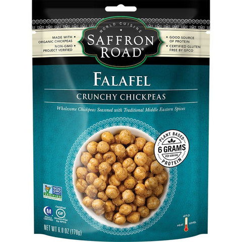 SAFFRON ROAD FALAFEL CRUNCHY CHICKPEAS, 6 OZ (Pack of 12)