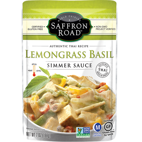 Saffron Road Lemongrass Basil Simmer Sauce, 7 OZ (Pack of 8)
