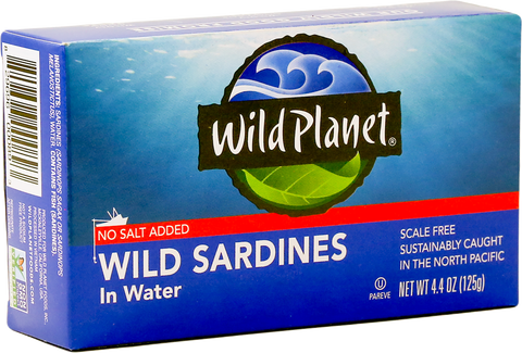 Wild Planet Wild Sardines in Water, 4.4 Oz (Pack of 12)
