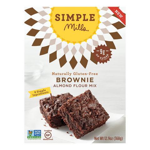 Simple Mills Chocolate Brownie Mix, 12.9 OZ (Pack of 6)