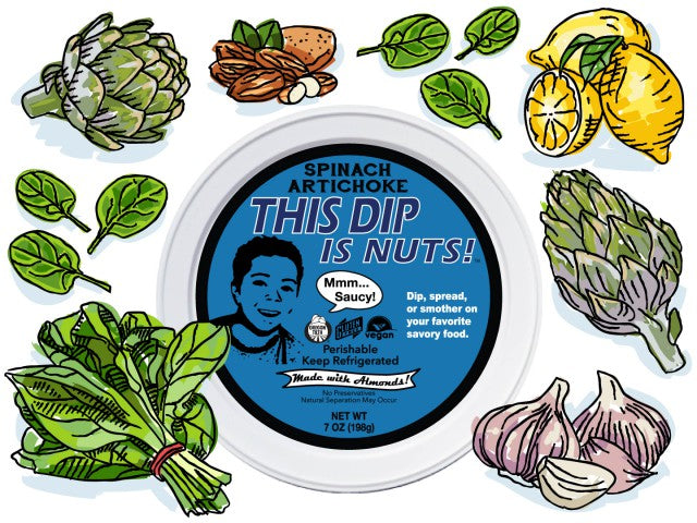 Bitchin' Sauce - This Dip Is Nuts Spinach Artichoke Dip, 7 OZ (Pack of 6)