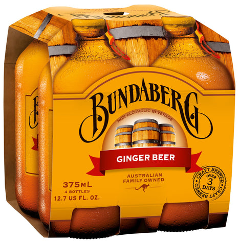 Bundaberg Ginger Beer, 375 Ml (Pack of 6)