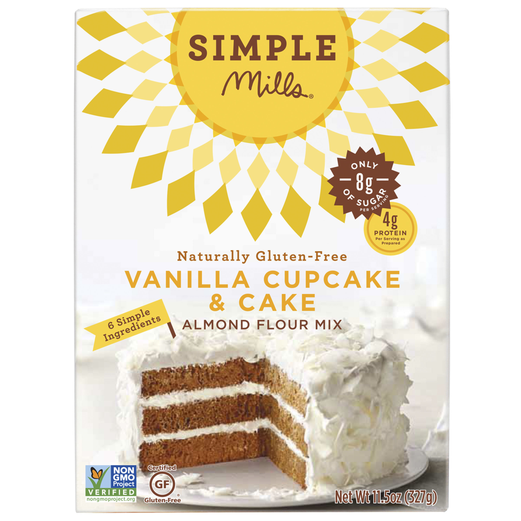 Simple Mills Vanilla Cake Mix, 11.54 OZ (Pack of 6)