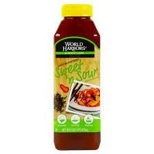 World Harbors Maui Mountain Sweet 'n Sour Sauce & Marinade 16 Oz Squeeze (Pack of 6)