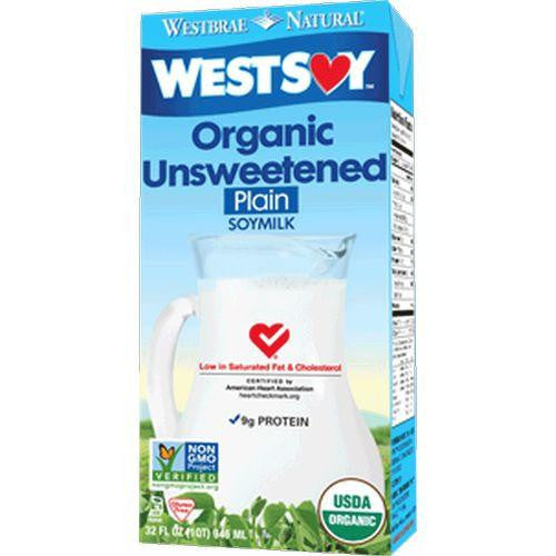 WestSoy Unsweetened Soy Milk, 32 FO (Pack of 12)