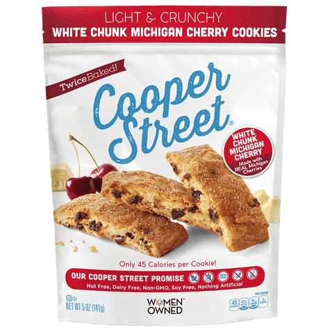 Cooper Street Light & Crunchy White Chunk Cherry Cookies, 5 OZ (Pack of 6)