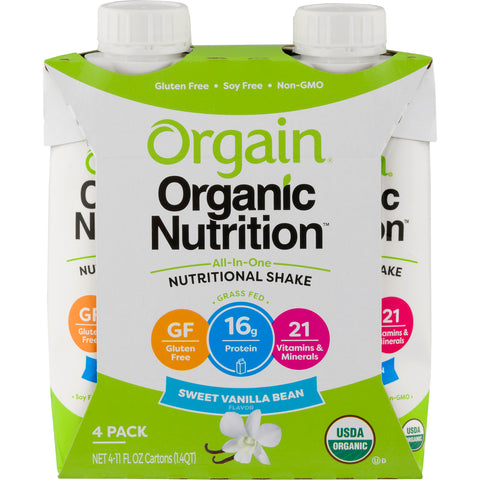 Orgain Strawberries & Cream Organic Nutritional Shake, 44 FO (Pack of 3)