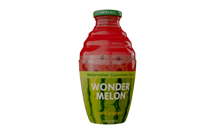 Wonder Melon, Watermelon Juice with Cucumber & Basil, 8.45 OZ (Pack of 6)