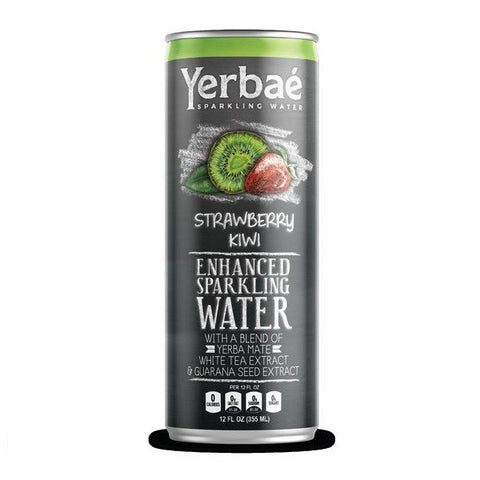 Yerbae' Enhanced Sparkling Water Strawberry Kiwi, 12 Oz. Cans (Pack of 9)