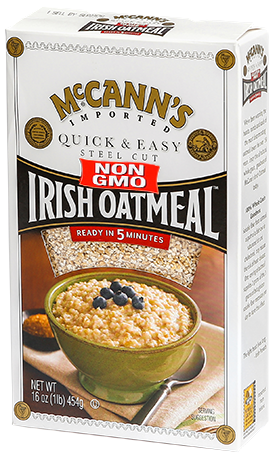 McCann's Quick and Easy Steel Cut Irish Oatmeal, 16 OZ (Pack of 12)