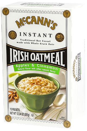 McCann's Instant Irish Oatmeal Apples & Cinnamon, 12.3 OZ (Pack of 12)