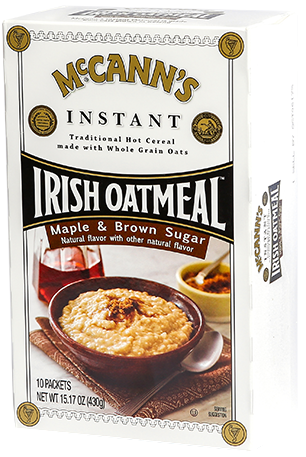 McCann's Instant Irish Oatmeal Maple Brown Sugar, 15.1 OZ (Pack of 12)