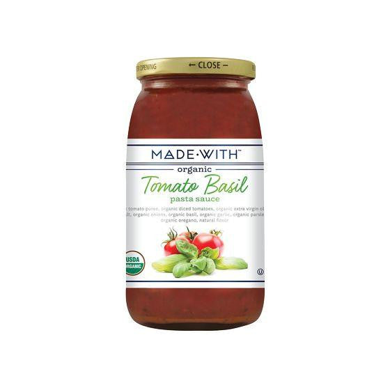 Made With Tomato Basil Pasta Sauce, 25 Oz (Pack of 6)