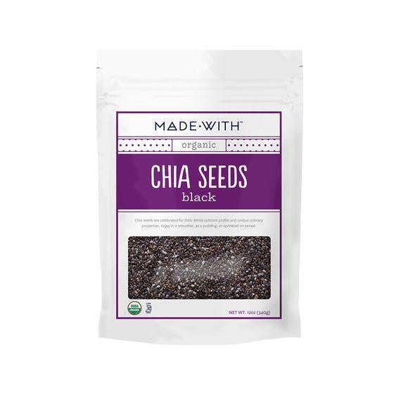 Made With Black Chia Seeds, 12 Oz (Pack of 6)