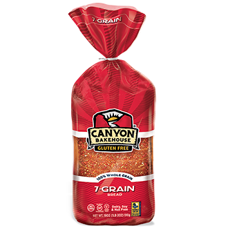 Canyon Bakehouse Gluten Free Whole Grain 7-Grain Bread, 18 Oz (Pack of 6)