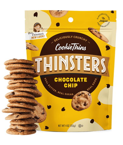 Mrs Thinsters Chocolate Chip, 4 OZ (Pack of 12)