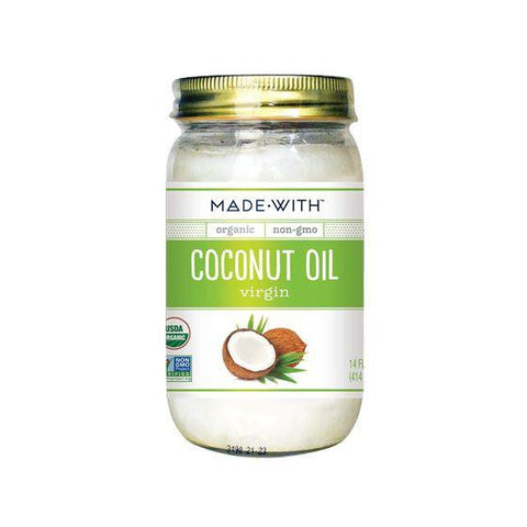 Made With Organic Coconut Oil Virgin, 14 Oz (Pack of 6)