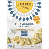 Simple Mills Fine Ground Sea Salt Almond Flour Crackers, 4.25 OZ (Pack of 6)