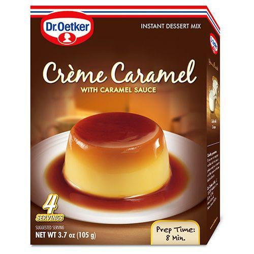 Dr.Oetker Creme Caramel with Caramel Sauce, 3.7 Oz (Pack of 12)