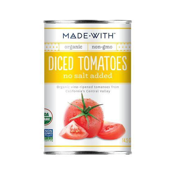Made With Diced Tomatoes No Salt Added, 14.5 Oz (Pack of 12)