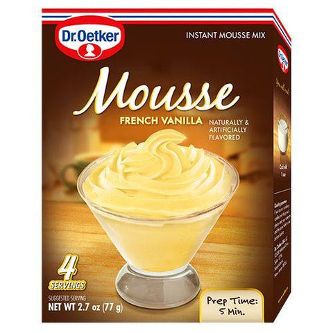 Dr. Oetker Mousse Mix Vanilla Instant, 2.7 OZ (Pack of 12)